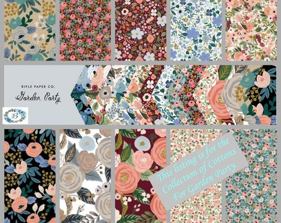 Rifle Paper Co  - Garden Party COTTON Fabric  - This sought after collection awaits your creativeness.