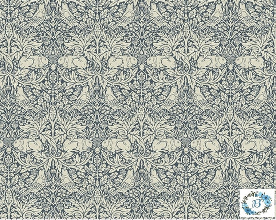 Brer Rabbit - Navy -  The Original Morris & Co.,  Be a part of the Arts and Crafts Movement Today