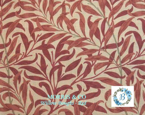 MORRIS and Co. Willow Boughs Red The Original Morris & Co.,  Be a part of the Arts and Crafts Movement Today