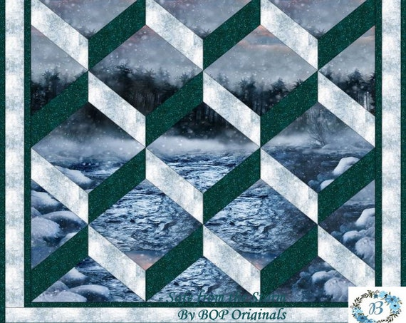 Safe from the Storm Quilt Kit - Featuring Call of the Wild - Inc: Free pattern, fabric cuts for a Throw Size Quilt Top and More See Below