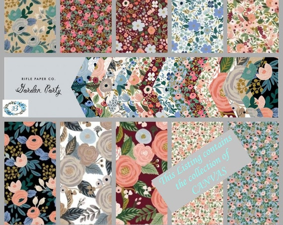 CANVAS Juliet Rose Unbleached Canvas - Rifle Paper Co for Cotton & Steel  Enjoy Garden Party