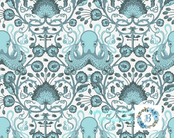 Salt Water -  Octo Garden - Aqua  by Tula Pink for Free Spirit Half Metre Cuts from the Bolt