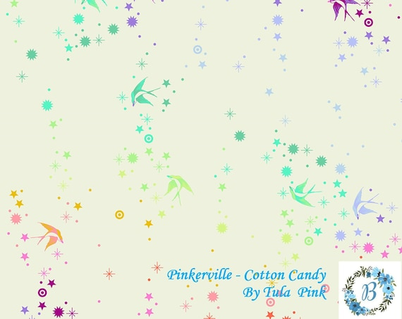 Pinkerville - Cotton Candy by Tula Pink for Free Spirit Half Metre Cuts