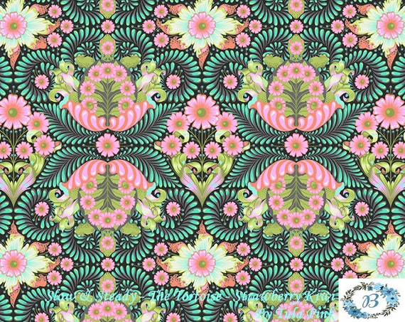 Slow and Steady, The Tortoise - Strawberry Kiwi  by Tula Pink for Free Spirit Half Metre Cuts from the Bolt