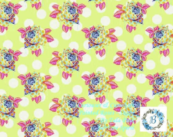 CURIOUSER & Curiouser  IN STOCK -  Painted Roses - Wonder - Sugar - Day Dream - Tula Pink For Free Spirit