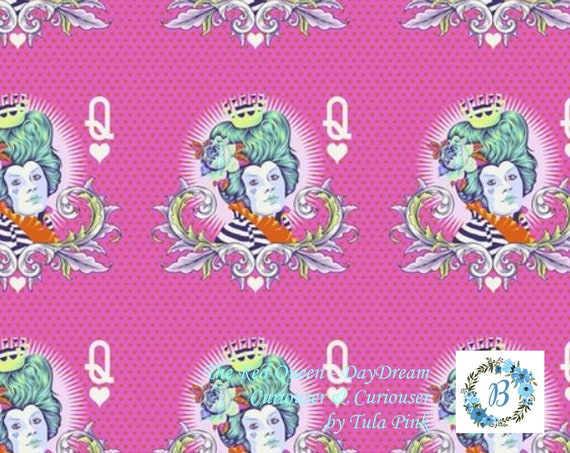 CURIOUSER & Curiouser in stock NOW  Buy the Metre -  Red Queen - Tula Pink For Free Spirit