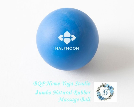 JUMBO Natural Rubber Massage Ball - Enhance your yoga practice with this one wee ball - accessorize your Home Studio  - Half Moon