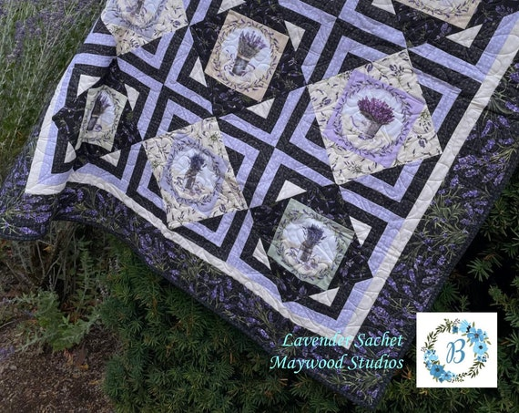 NEW! LAVENDER SACHET - By Maywood Studios available at Blueberry Quilt Patch - Grab a Kit or Grab a Bundle.  Enjoy the view