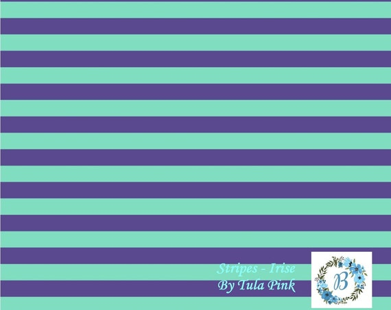 TULA  Stripes  - in Iris  -  by Tula Pink for Free Spirit Half Metre Cuts from the Bolt