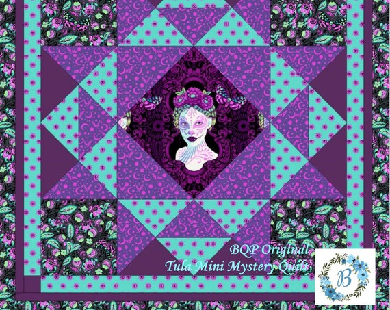 TULA Mini Quilt - Complete Kit designed by BQP Originals using Tula Pink Original Fabric - Great for Gift Giving