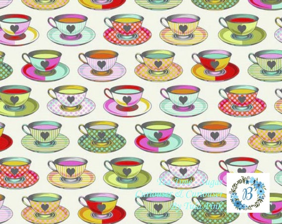 CURIOUSER & CURIOUSER In Stock NOW! Buy the Metre -  Tea Time - Tula Pink For Free Spirit