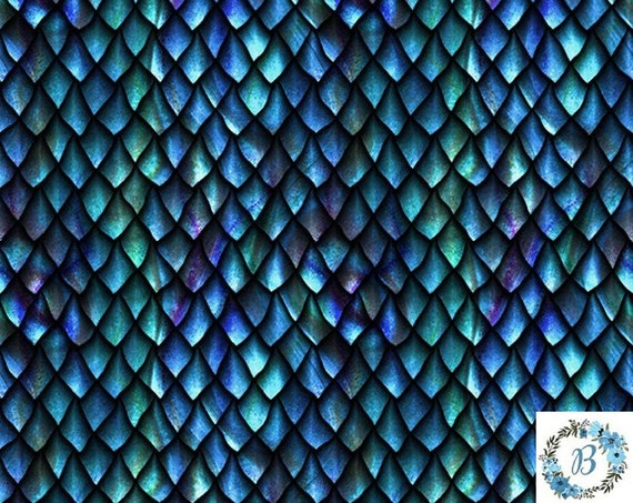 IT'S HERE! Blue Fury Scales - In the Beginning by Jason Yenter - Supplies available of this glorious fabric