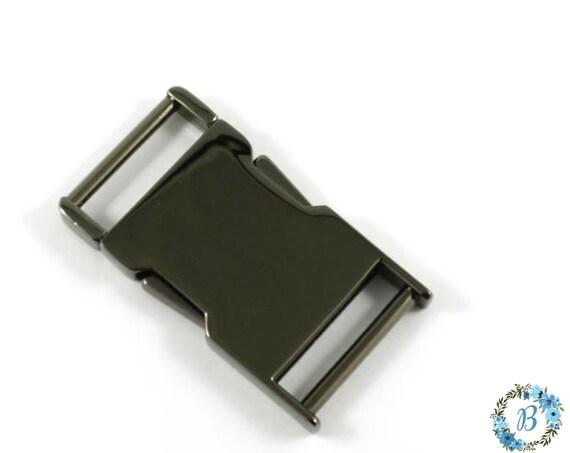 EMMALINE BAG HARDWARE  Metal Side Release Buckle- 1 inch in size (1 pack )- Gunmetal