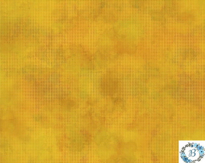 Dit Dot - Dark Cheddar - Premier 100% Quilt Cotton