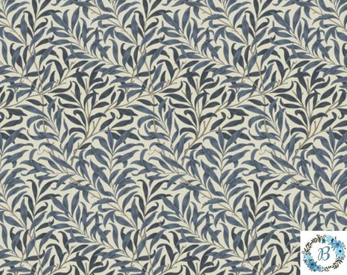 Willow Boughs Navy The Original Morris & Co.,  Be a part of the Arts and Crafts Movement Today