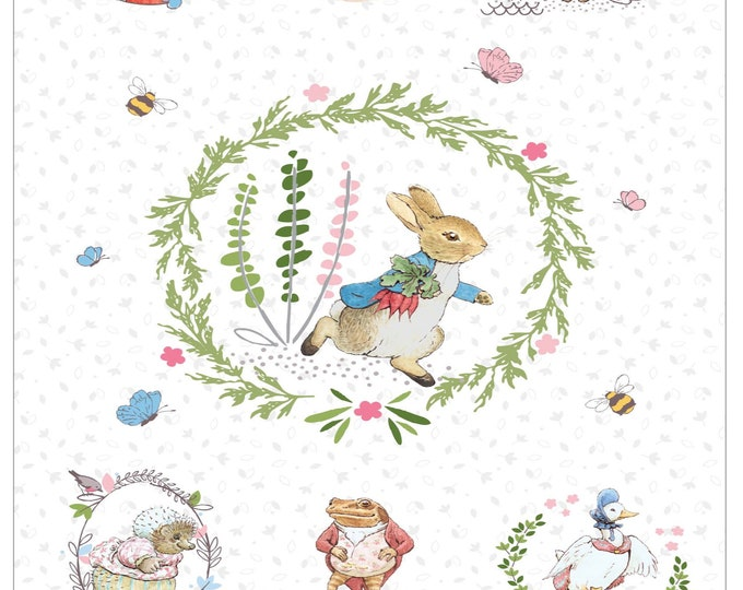 Kit and Pattern Peter Rabbit (New & Digital) - Quilt Top Kit with Pattern - 3 Colorways to choose from