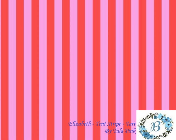 ELIZABETH Tent Stripe -  By Tula Pink -  Out of Production - Half metre fabric cuts are made off the bolt