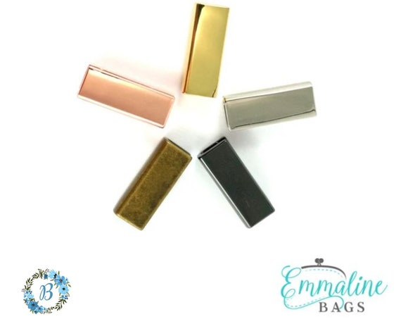 1 Inch End Caps EMMALINE BAGS Rectangular Strap End Cap Various Finishes - 1 inch 4 pack
