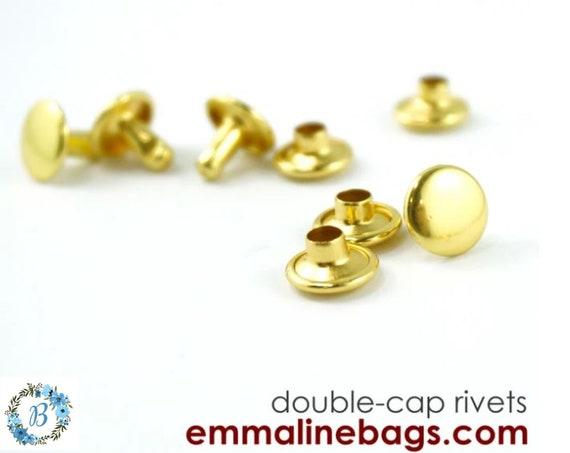RIVETS Small  EMMALINE Bag Hardware  -   8mm Cap x 6mm post - Various finishes