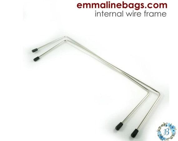 EMMALINE BAG HARDWARE - Internal Wire Frame - Style B (1 pair)