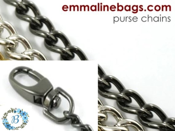 EMMALINE BAG HARDWARE Purse Chain: **Single-Link** Chain - Gunmetal