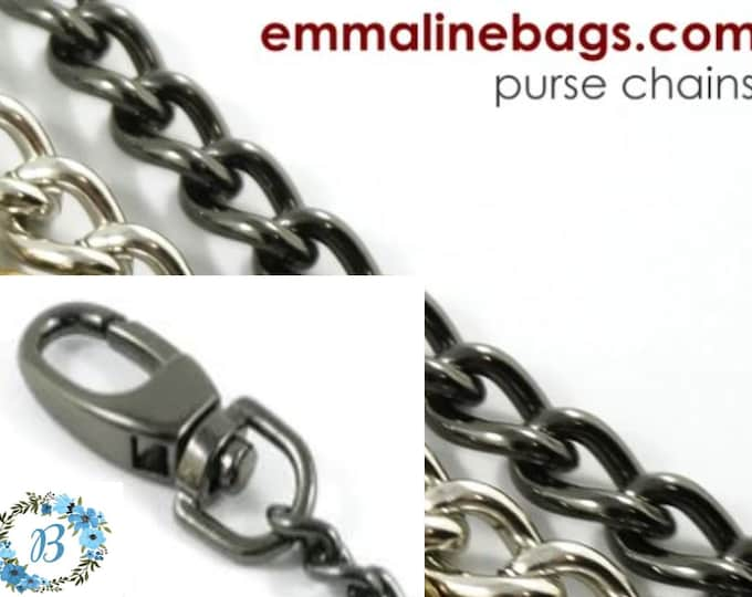 EMMALINE BAG HARDWARE Purse Chain: **Single-Link** Chain - Gunmetal