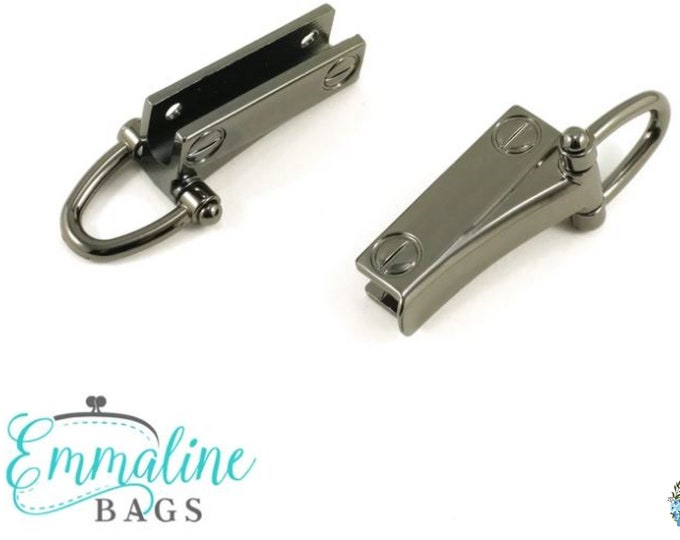 EMMALINE BAG HARDWARE Strap Clip with D-Ring (2 Pack) - Gunmetal