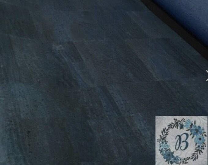 CORK CUTS - Navy Cork Fabric
