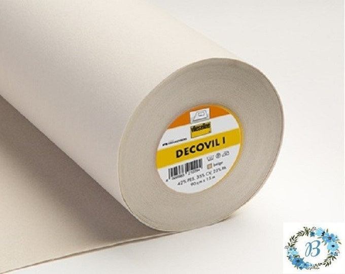 "Decovil Heavy for bag making supplies 3 metres x 90 cms Decovil 1 (Heavy) Wide Width (39.5 inches x 44"")"