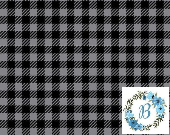 Canadian Eh! Grey Buffalo Plaid