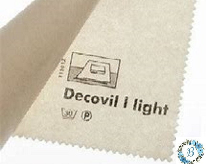 "Decovil 1- Light -  Ideal for BAG and Wallet making and is of top quality - 1 unit measures 35"" x 24"" - 3/4 of a yard (88 cms x 60 cms)."