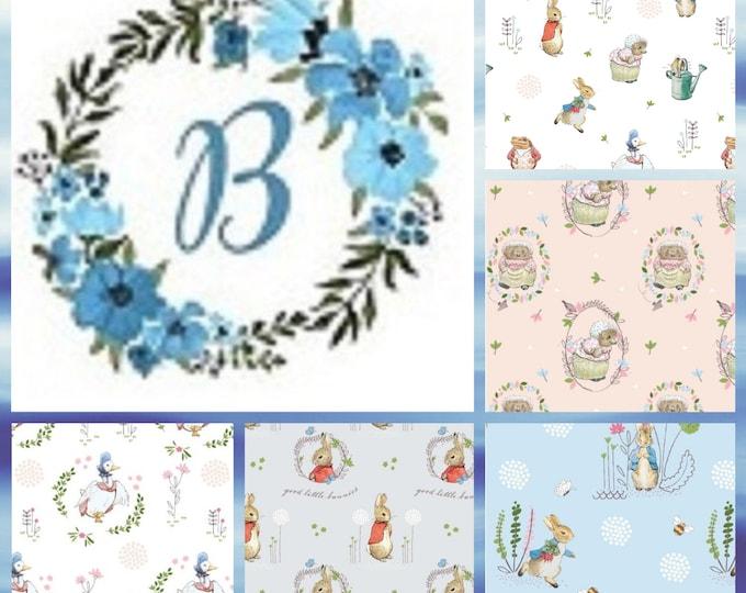 Bundle - 1/2 metre Peter Rabbit (New & Digital) -  (1/2 metre bundle with 5 prints)
