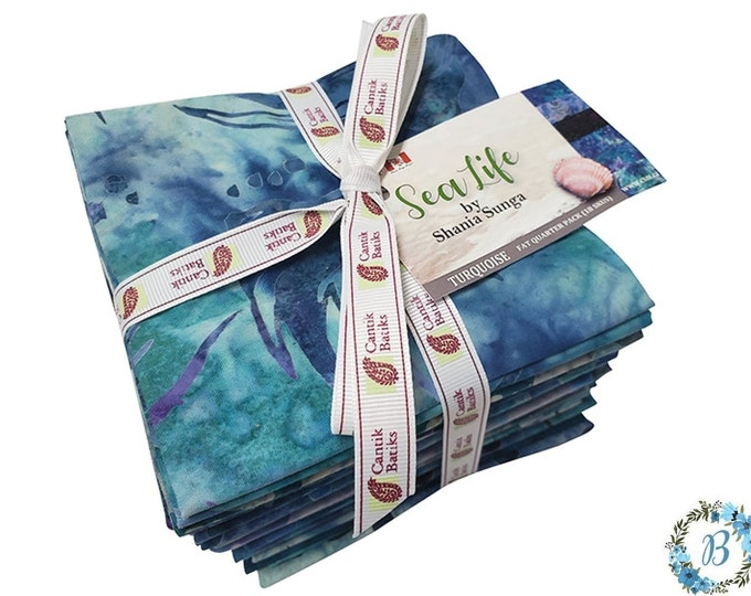 "FQ Bundle-  New Collection ""Sea Life"" Designed by Shania Sunga for Cantik Batiks"