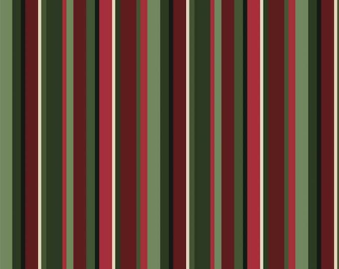 Christmas Bird Song by P&B Tex - Stripe Design coordinating fabric for the collection