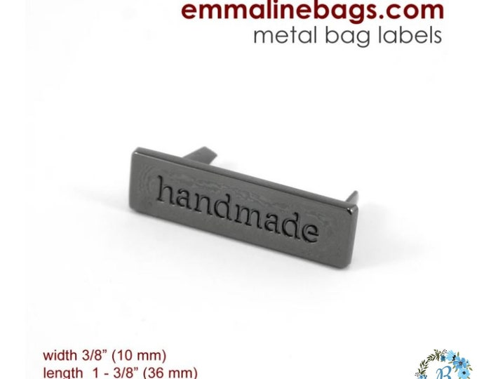 EMMALINE BAG HARDWARE Handmade Bag Tag- Gunmetal