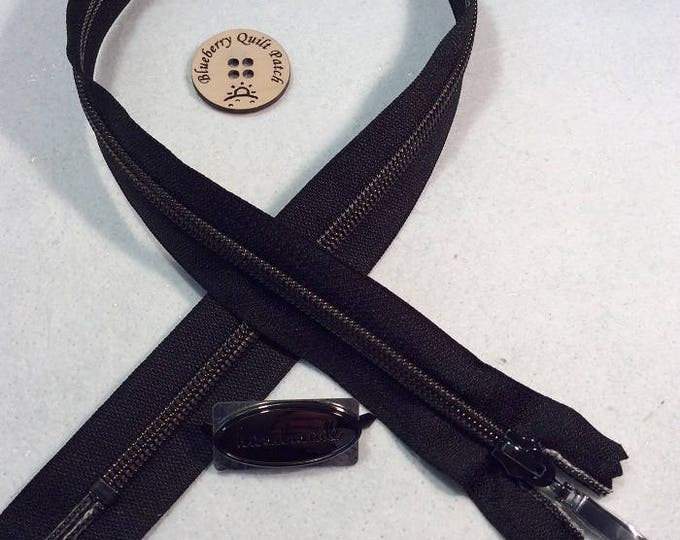 "Black ""VIZZY"" Zipper # 5"
