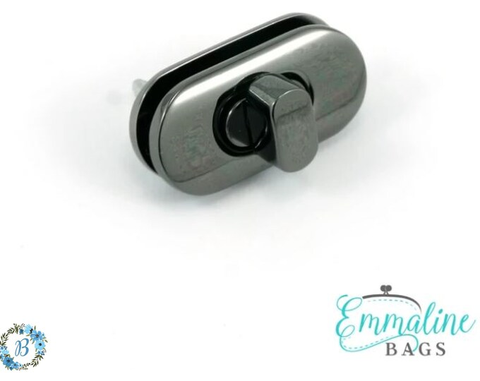 EMMALINE BAG HARDWARE Small Turn Lock (1 Pack)  - Gunmetal