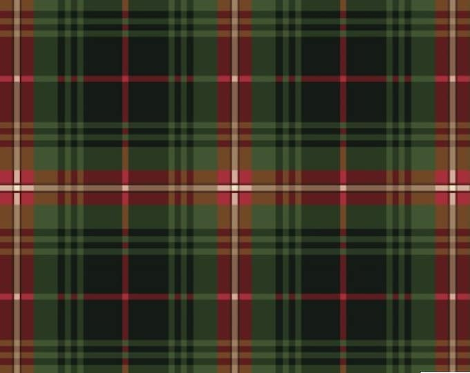 Christmas Bird Song by P&BTex - Plaid with Green and Red