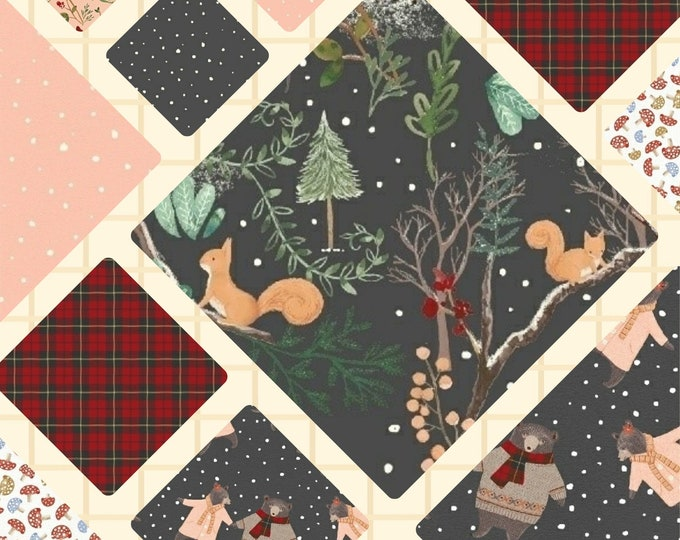 FQ Bundle (5) Think of A Walk in the Woods followed by a delicious cup of hot chocolate, good book and a COSY QUILT