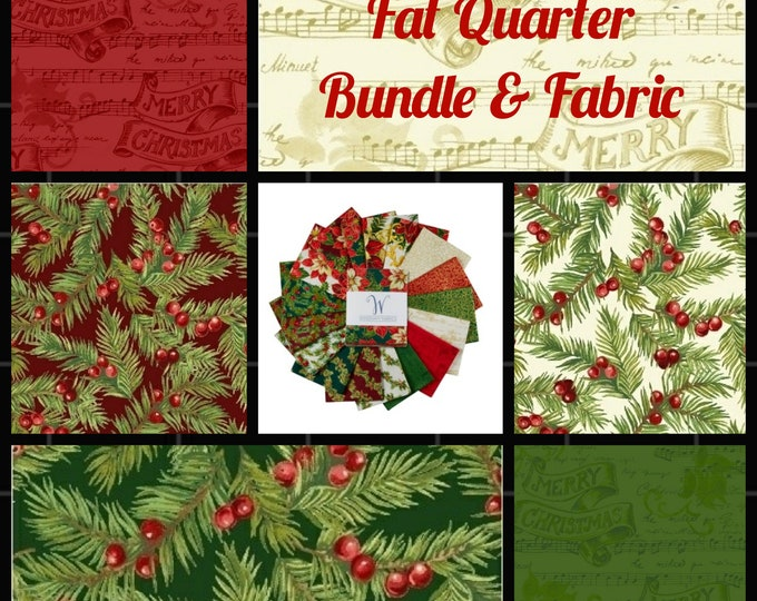 Song of Christmas - Coordinating Yardage available here.   Create a lovely quilt treasure to enjoy each Christmas Season.