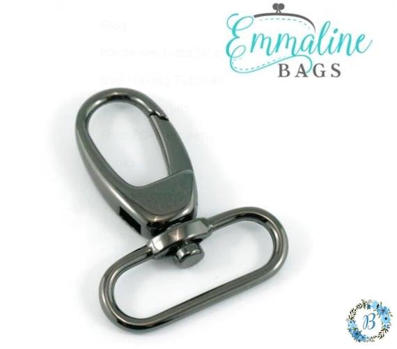 1.5 Inch EMMALINE BAG HARDWARE Swivel Hooks 2 pack (1-1/2 inch) - Various Finishes