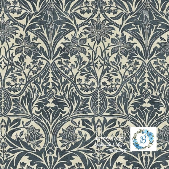 MORRIS and Co. Granada - Bluebell Indigo The Original Morris & Co.,  Be a part of the Arts and Crafts Movement Today