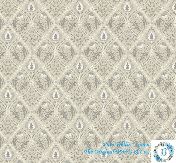 Pure Trellis - Linen -  The Original Morris & Co.,  Be a part of the Arts and Crafts Movement Today