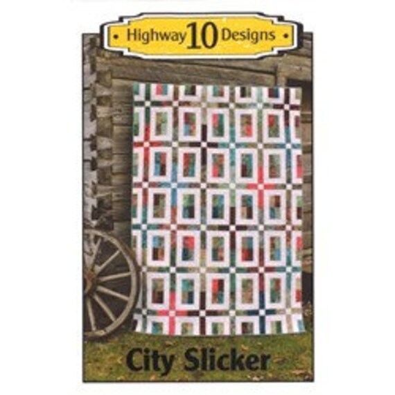 Highwat 10 Designs pattern- City Slickers with Jelly Roll  from M&S Textiles Australia - Dreamtime Flowers Black