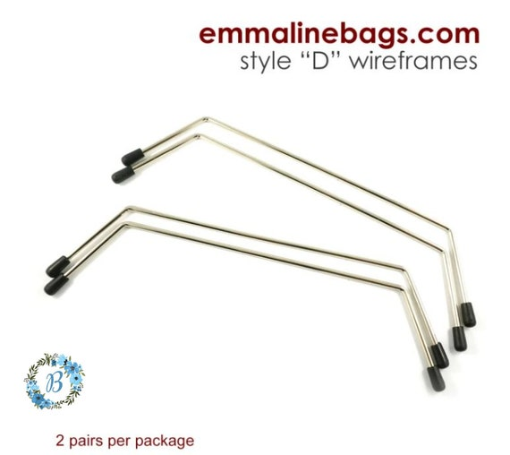 EMMALINE BAG HARDWARE - Internal Wire Frame - Style D (2 pairs per package)