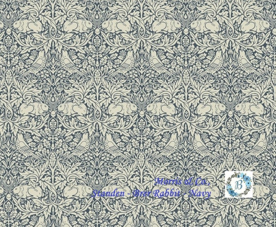 STANDEN Brer Rabbit - Navy -  The Original Morris & Co.,  Be a part of the Arts and Crafts Movement Today