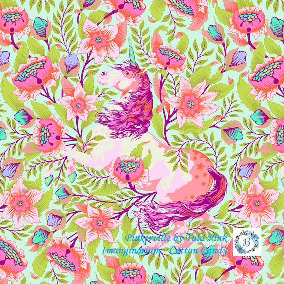 TULA PINK Imaginarium PINKERVILLE  by Tula Pink sold by the 1/2 metre