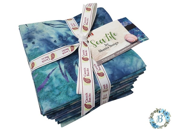 "PRE-ORDER- New Collection ""Sea Life"" Designed by Shania Sunga for Cantik Batiks"