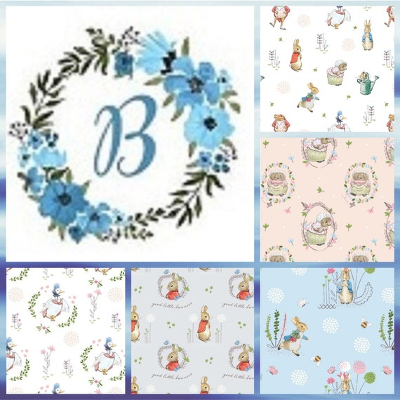 FQ Bundle EXCLUSIVE  - Peter Rabbit (New & Digital)  -  This 5 Print FQ Bundle will be delightful new Quilt for your new baby