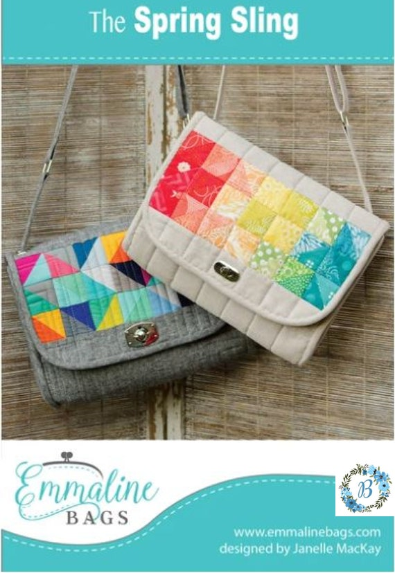 EMMALINE BAGS - The Spring Sling Crossbody  - Pattern  **For the intermediate Sewist**